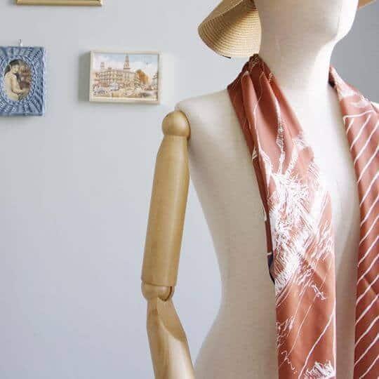 mountain-drawing-orange-jai-scarf-women-fashion-2
